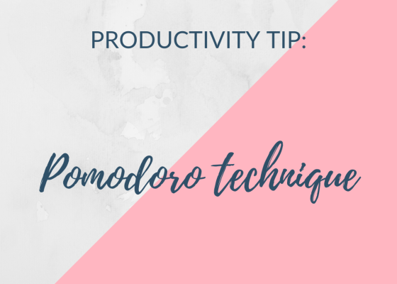 productivity tip - pomodoro technique
