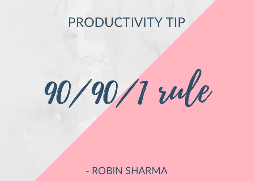 90 / 90/ 1 rule
